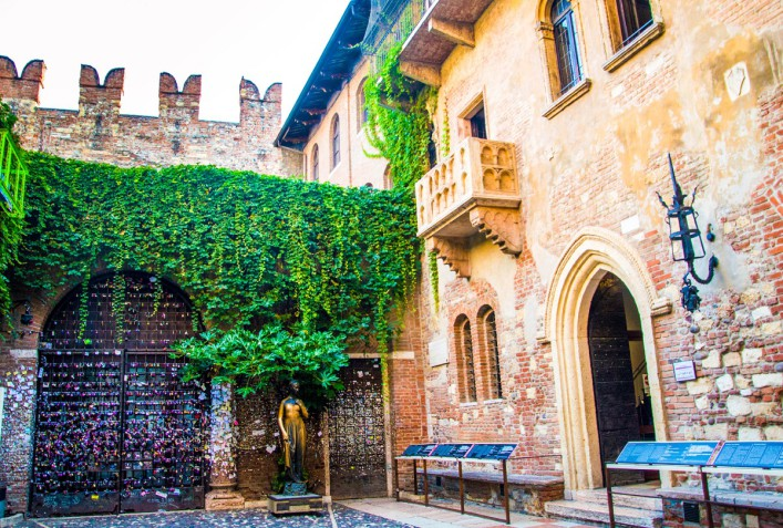 Juliet´s Haus und der berühmte Balkon
